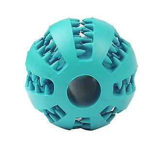 7cm Light Blue Dog Pet Toy Chew Clean Rubber Ball