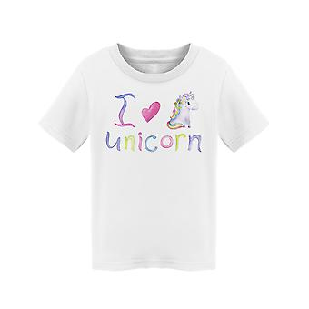 I Love Unicorn Clipart Tee Toddler's -Image by Shutterstock