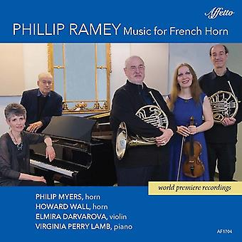 Ramey / Myers / Lamb - Phillip Ramey: Music for French Horn [CD] USA import