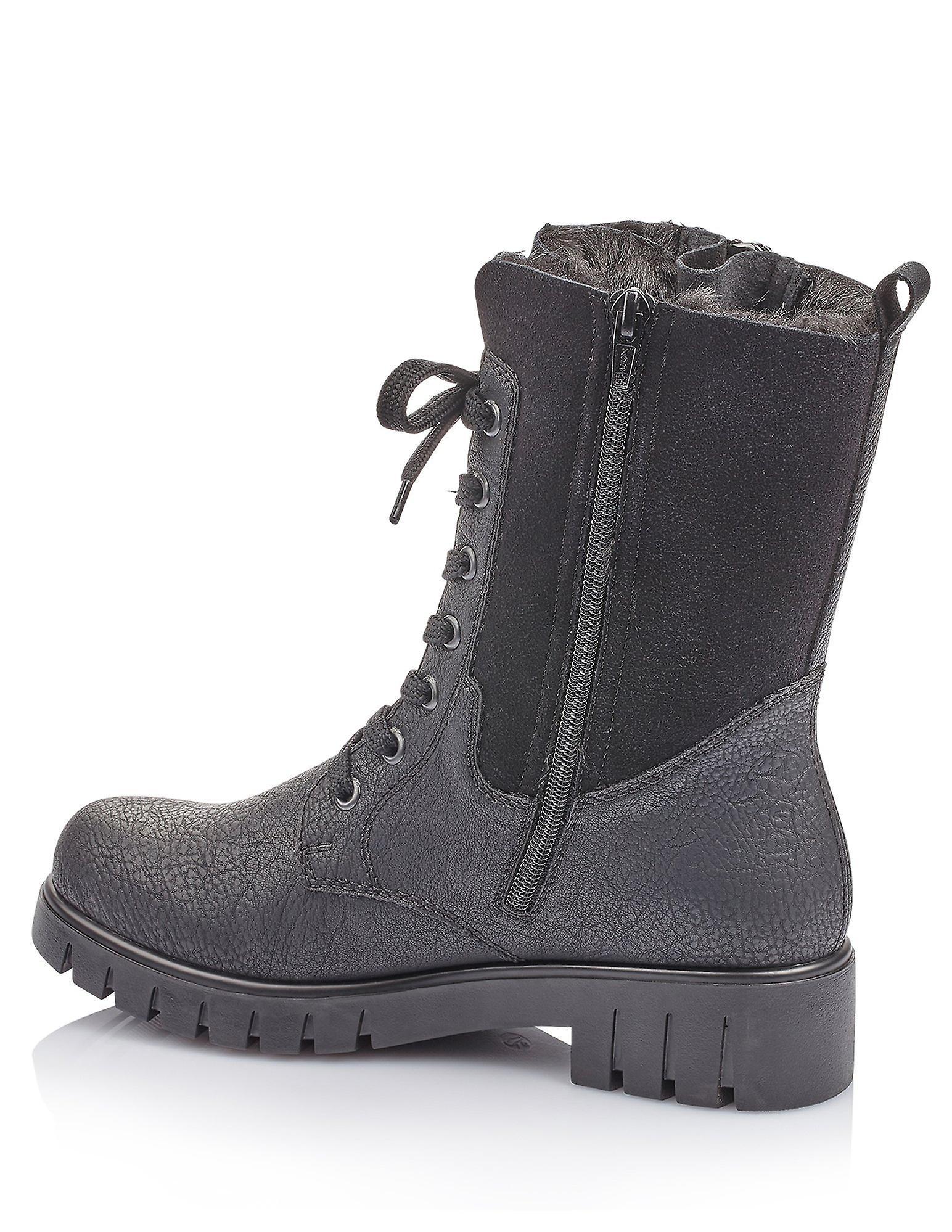Rieker greece wolfface black boots womens black 002