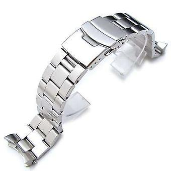 Strapcode watch bracelet 22mm super 3d oyster solid link 316l stainless steel bracelet for seiko skx007 diver