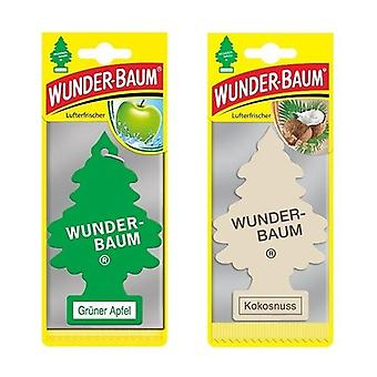 Wunder-Baum Spruce parfumée (Pomme + Noix de coco) 2-Pack