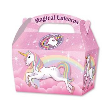 10 Magical Unicorn Card Party Food or Treat Box