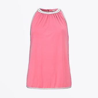 Gustav - Embellished Halter Top - Pink