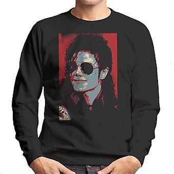 Michael Jackson Portrait 1990 klassische Pilotenbrille Sonnenbrille Herren Sweatshirt