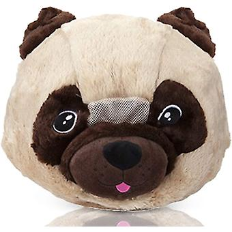 13 Inch Soft Big Head Costume Party Animal Pug Big Head Mask