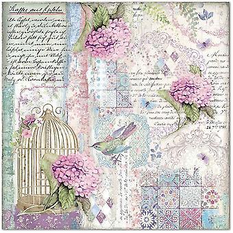 Stamperia Hortensia Käfig & Vögel 12 x 12 Papierblätter (10pcs) (SBB695)