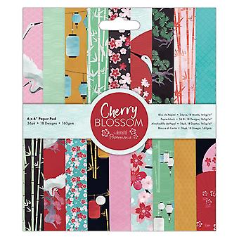 Papermania Cherry Blossom 6x6 Inch Paper Pad