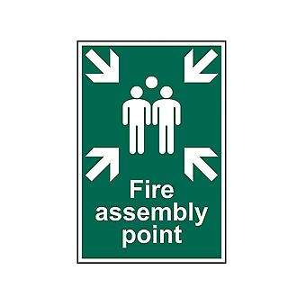 Scan Fire Assembly Point - PVC 200 x 300mm SCA1541