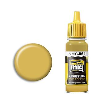 Ammo by Mig Acrylic Paint - A.MIG-0061 Warm Sand Yellow (17ml)