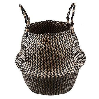 Seagrass Natural Rattan Storage Basket - Vaso di fiori, vaso vegetale, supporto, lavanderia