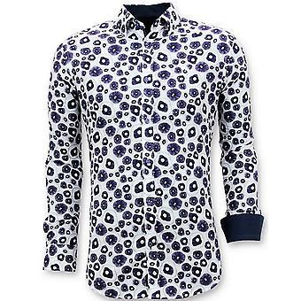 Separate Casual Shirts - Digital Print - White
