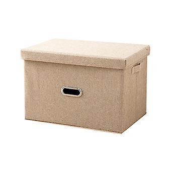 YANGFAN pamut és len összecsukható world cover tároló doboz