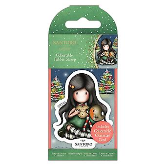 Gorjuss Collectable Mini Rubber Stamp No.81 Christmas Friend