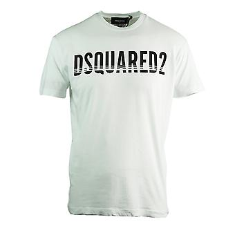 Dsquared2 Sliced Logo Cool Fit camiseta blanca