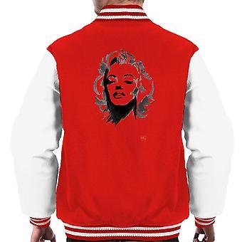 Marilyn Monroe Digital Painting Men's Varsity Jacket