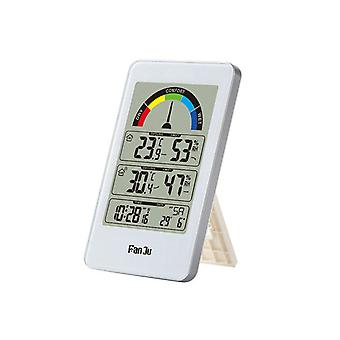 Fanju fj3356 lcd station météo numérique horloge domestique intérieur extérieur température humidité mètre météo horloge réveil électronique