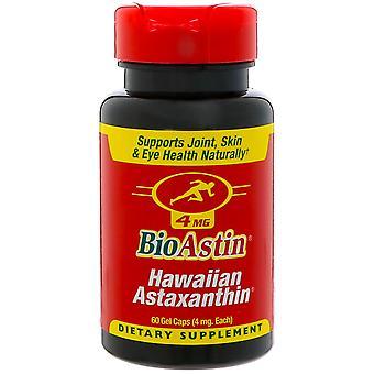 Nutrex Hawaii, BioAstin, Hawaiian Astaxanthin, 4 mg, 60 Gel Caps