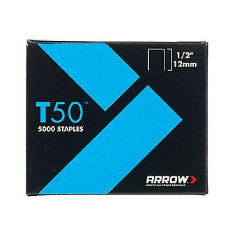 Arrow T50 Staples 12mm (1/2in) Bulk Pack 5000 ARRT5012IP