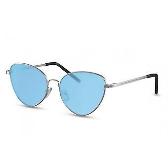 نظارات شمسية المرأة الفراشة Cat.2 فضة / أزرق (CWI1357)