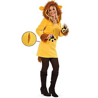 Lion Leonie Damer Kostyme Konge av Dyr Tunika Damer Kostyme