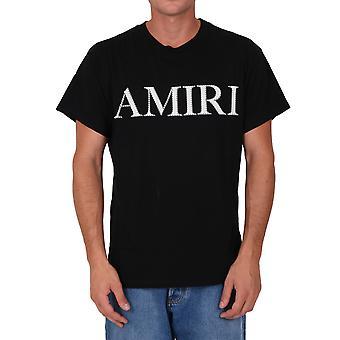 Amiri W0m03559cjblk Men's Zwart Katoen T-shirt