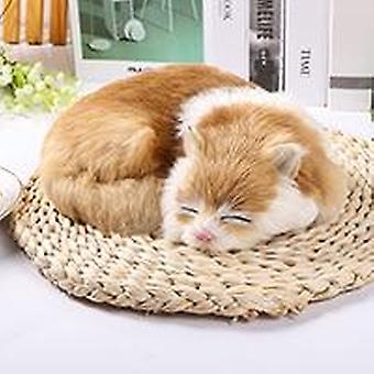 1pc Mini Cute Peluche Animaux - Sleeping Cats For Home Crafts