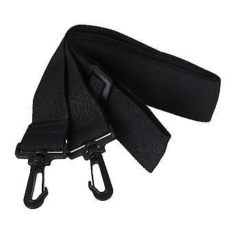 Shoulder Strap 38mm Width Adjustable Wide With Plastic Hooks Black