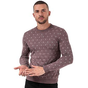 Men's Ted Baker Talkoo Geo stricken Wolle Pullover in rosa