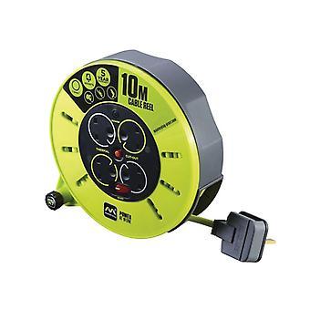 Masterplug PRO-XT Cassette Cable Reel 240V 10m 13A 4 Socket MSTCMU10134