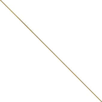 Chela di aragosta 14k solido oro giallo lucido chiusura .90mm tondo bracciale catena di serpente - aragosta artiglio - lunghezza: 7-8