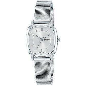 Pulsera de malla de acero inoxidable de las señoras de las señoras con esfera de plata 50M reloj PH8375X1