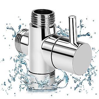 3ウェイ水分離シャワー付きブラスダイバーターバルブ - ティーアダプタ調整可能