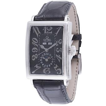 Gevril Men's 5031 AVENUE OF AMERICAS Automatic Black Leather Wristwatch