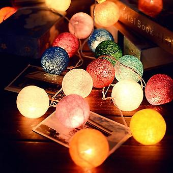 3m Led Cotton Ball Garland Luci Stringa-fata Luci Decorazione Set 8