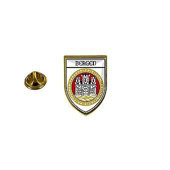 pine pine badge pine pin-apos;s souvenir stadsvlag land wapenstok bergen norvege