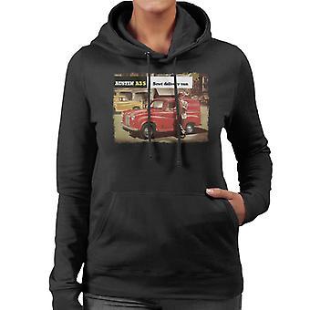 Austin A35 5cwt Delivery Van British Motor Heritage Women's Hooded Sweatshirt