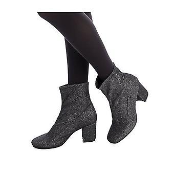 Xti - shoes - ankle boots - 30943_PLUMB - ladies - black,silver - EU 36