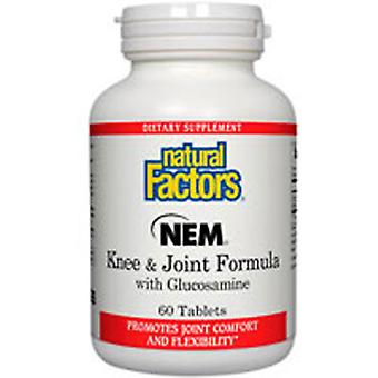 Natural Factors NEM - Knee and Joint Formula With Glucosamine, 60 Tabs