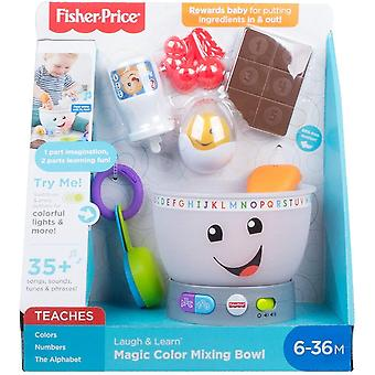 Fisher price laugh & learn mixing bowl, numbers, colours, and colour mixing with