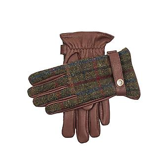 Men's Harris Tweed & Deerskin Guantes de cuero