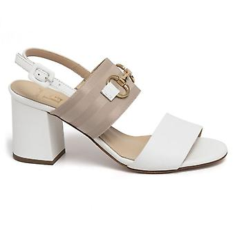Luca Grossi Bianco Heel and Clamp Sandal
