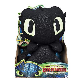 Dreamworks dragons, squeeze & growl toothles - 10 inch plush with sound