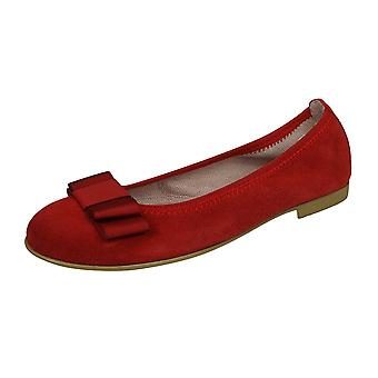 Angela Brown Payton Girls Suede Ballerina Shoes Pumps - Red