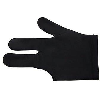 Spandex Snooker Billiard Cue Gloves- Pool Left Hand Open Three Finger Accessory