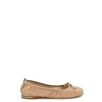 Miu Miu Ezbc057032 Mujeres's Zapatos de Cuero Rosa
