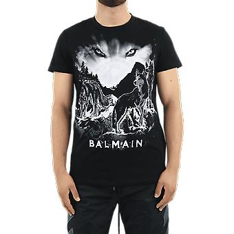Balmain Printed Ts Black UH11601I307EAB Top