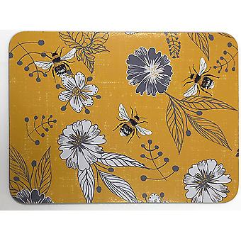 Home Living Placemats x 6 Bumblebee Yellow HH2271