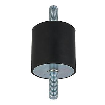 M12 VV Type Black Rubber Mount Isolator for Heavy Machine 60x60mm