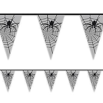 6m muovi bunting hämähäkit Halloween sisustus 15 liput 30x20cm